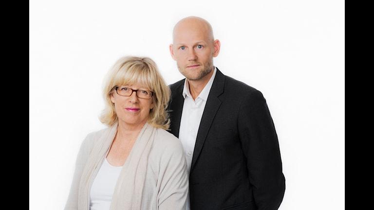 Studio Ett. Helena Groll och Jörgen Huitfeldt. Sveriges Radio P1. foto: Mattias Ahlm/Sveriges Radio