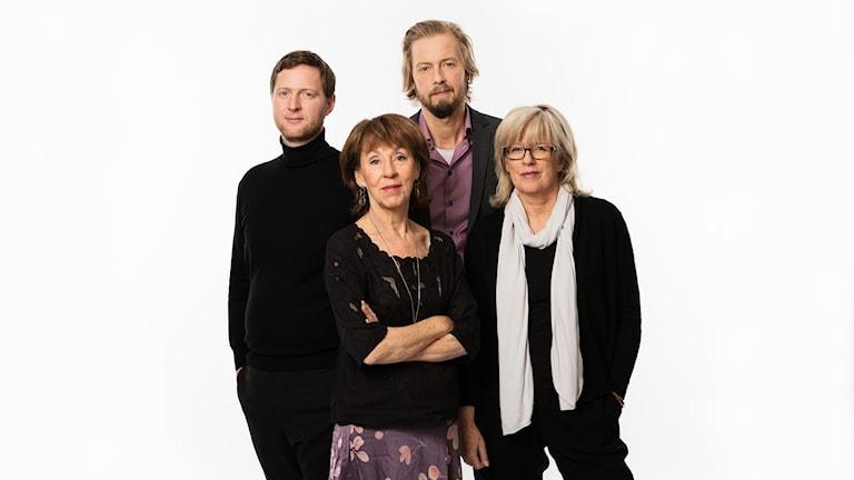 Studio Ett Anders Jelmin, Li Hellström, Magnus Thorén, Helena Groll P1 Sveriges Radio