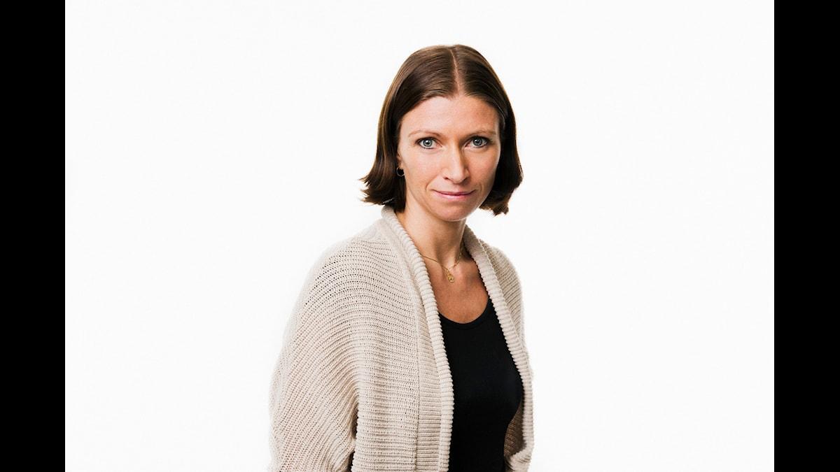 P1-morgon. Erika Mårtensson. Sveriges Radio P1. foto: Mattias Ahlm/Sveriges Radio