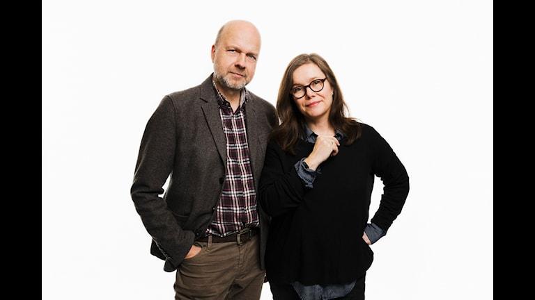 Kritikerprogrammet. Gunnar Bolin och Anneli Dufva. Sveriges Radio P1. foto: Mattias Ahlm/Sveriges Radio