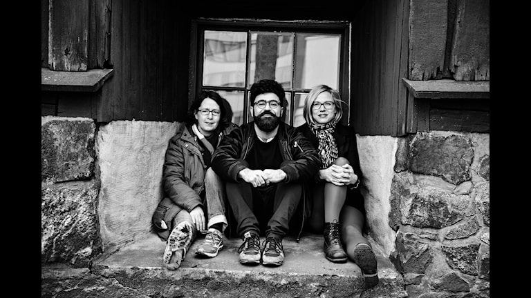 Kino. Nina Asarnoj, Saman Bakhtiari och Jenny Aschenbrenner. Foto: Martina Holmberg/Sveriges Radio.