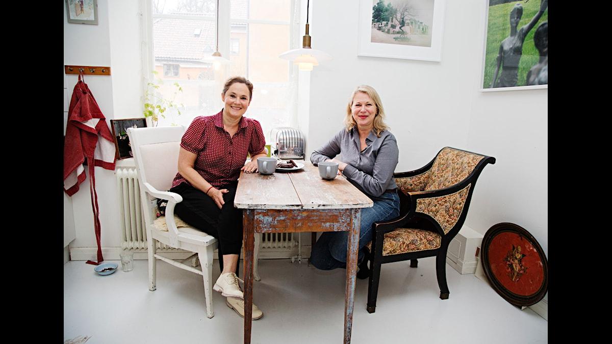 Programmet: Våra egna rum. Pernilla August och Helena von Zweigbergk. Fotograf: Martina Holmberg/Sveriges Radio