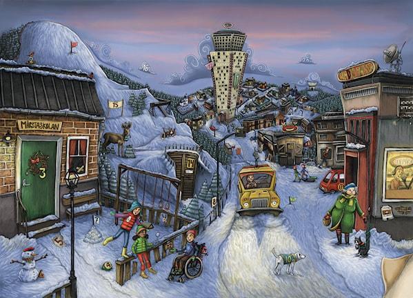 Julkalendern i P4, 2014 Ill: Anna Westin/Sveriges Radio