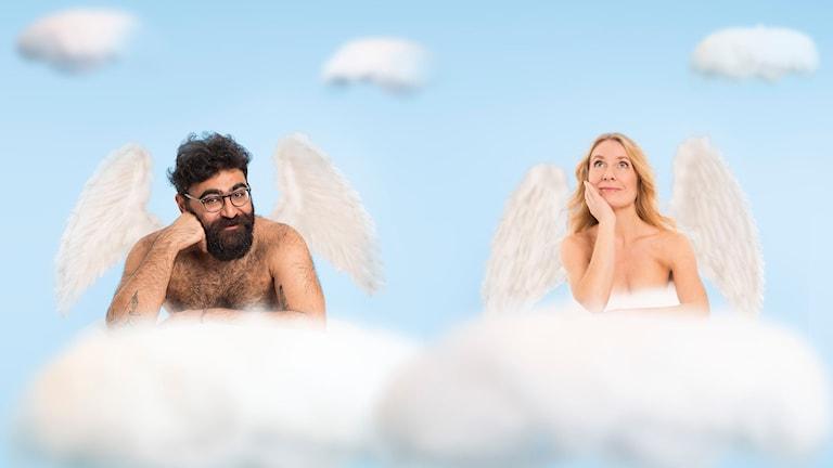 Änglar finns! Saman Bakhtiari och Annika Lantz Foto: Micke Grönberg/Sveriges Radio