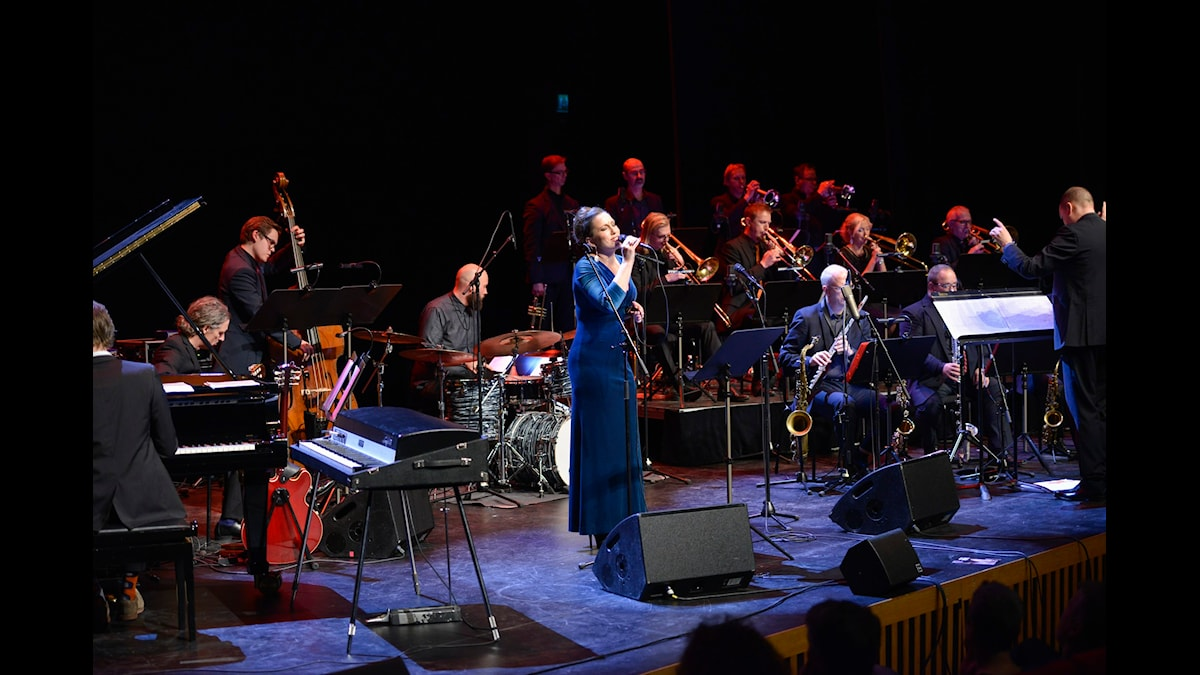 Jazzradion. Lisa Nilsson & Norrbotten Big Band. Sveriges Radio P2. foto: Kjell Oscarsson/Sveriges Radio