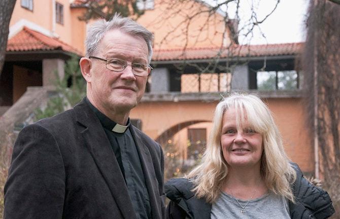 Gudstjänsten-Guds hus i mig. Lars Björklund och Maria Küchen.  Sveriges Radio P1. Foto: Siri Ambjörnsson.