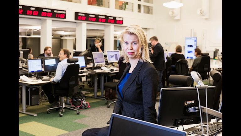 Anne Lagercrantz. Chief of news, Swedish Radio. Photo: Mattias Ahlm/Sveriges Radio.