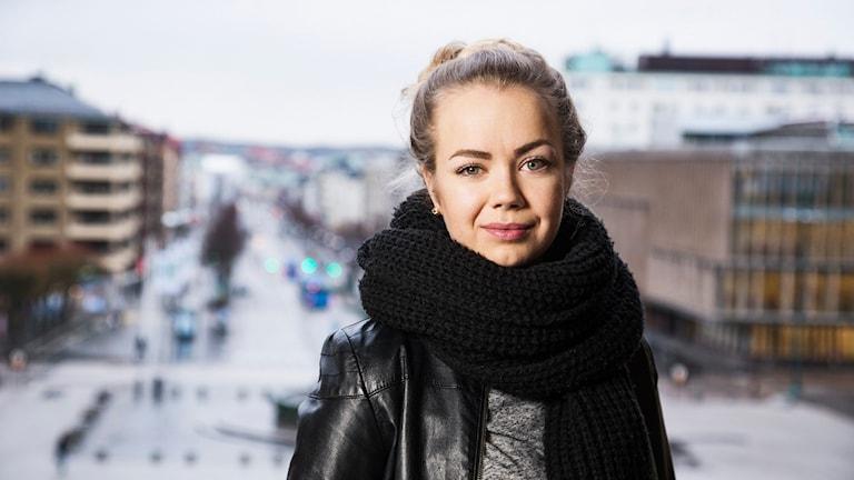 P3 om-podd. Isabelle Forsberg.  Sveriges Radio P3. Foto: Mattias Ahlm/Sveriges Radio
