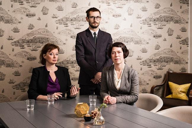 Kvinnorna och pengarna. Camilla Wagner, Erik Petersson, Anna Iversen. P1 Sveriges Radio. foto: Mattias Ahlm/Sveriges Radio
