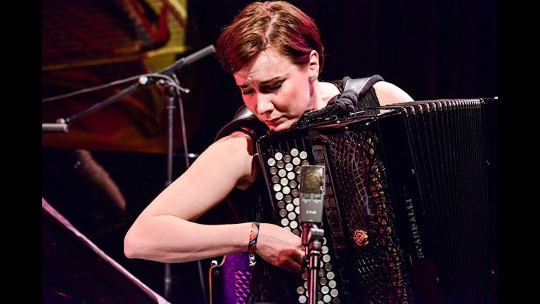 Minna Weurlander på festivalen Umefolk 2015. Foto: Kjell Oscarsson/Sveriges Radio