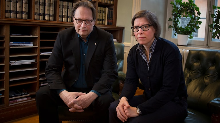 Allvarligt talat med Horace Engdahl och Lena Andersson Foto: Micke Grönberg/Sveriges Radio