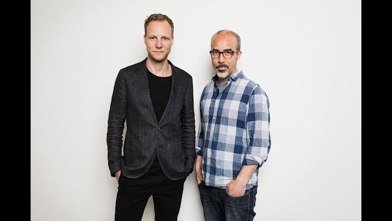 Bo-Göran Bodin, Alexander Gagliano. Ekot Sveriges Radio. P1 Sveriges Radio. foto: Mattias Ahlm/Sveriges Radio