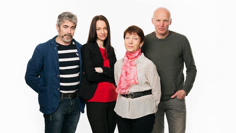 Ryska redaktionen. Jurij Gourman, Nina Startseva, Irina Makridova, Maksim Lapitskij. Sveriges Radio. Radio Sweden. foto: Mattias Ahlm/Sveriges Radio