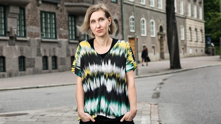 Musikredaktör. Linda Nordeman. Sveriges Radio. Musikredaktionen. foto: Mattias Ahlm/Sveriges Radio