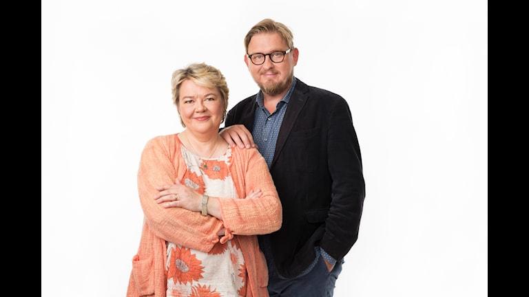 Karlavagnen. Fredrik Virtanen och Marjaana Kytö. P4 Sveriges Radio. Foto: Mattias Ahlm/Sveriges Radio