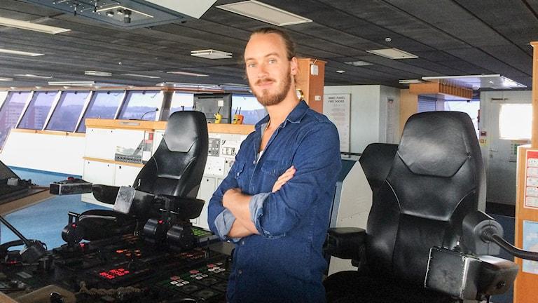 Svenska sjömän. Rasmus Blomqvist. Tendens och P1 Dokumentär. 20151005. P1 Sveriges Radio. Foto: Mia Blomgren/Sveriges Radio