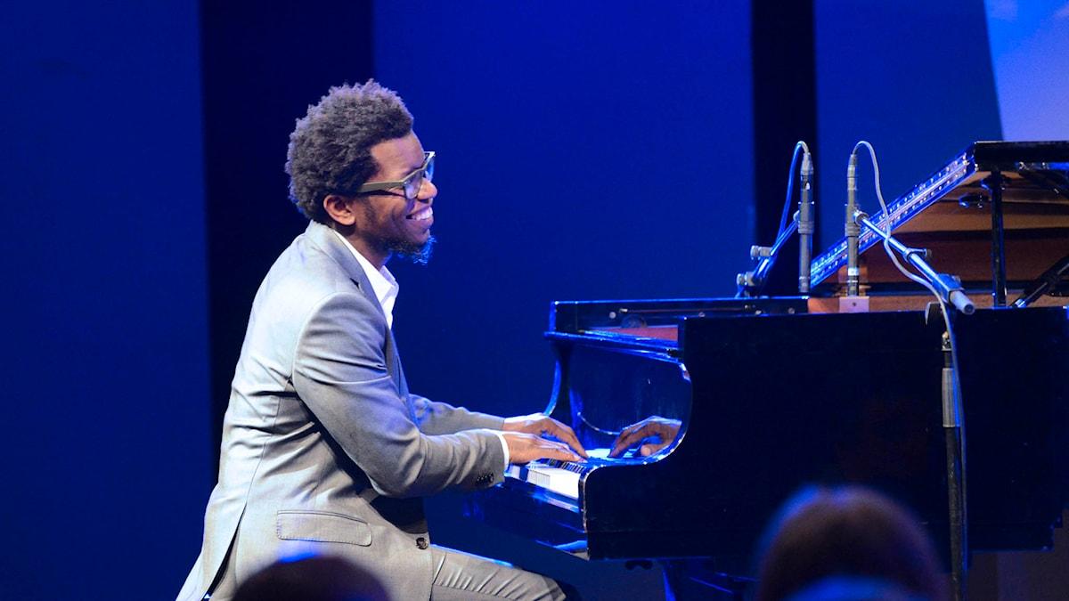 P2 Live Jazz Kubanske pianisten Aruán Ortiz från inledningen av 2014 års Umeå Jazzfestival -  Foto: Mikael Lindberg/Sveriges Radio