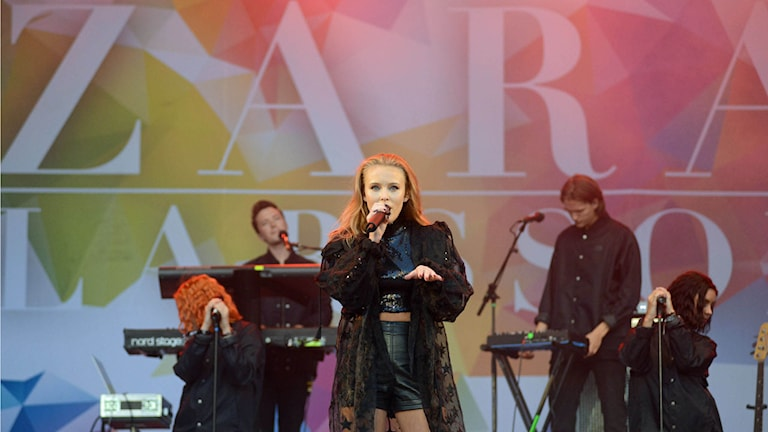 P4 live med Zara Larsson. Foto: Mikael Lindberg/Sveriges Radio