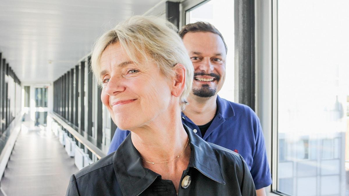 Stina Ekblad och Roger Wilson. Foto: Anna-Karin Ivarsson/Sveriges Radio.