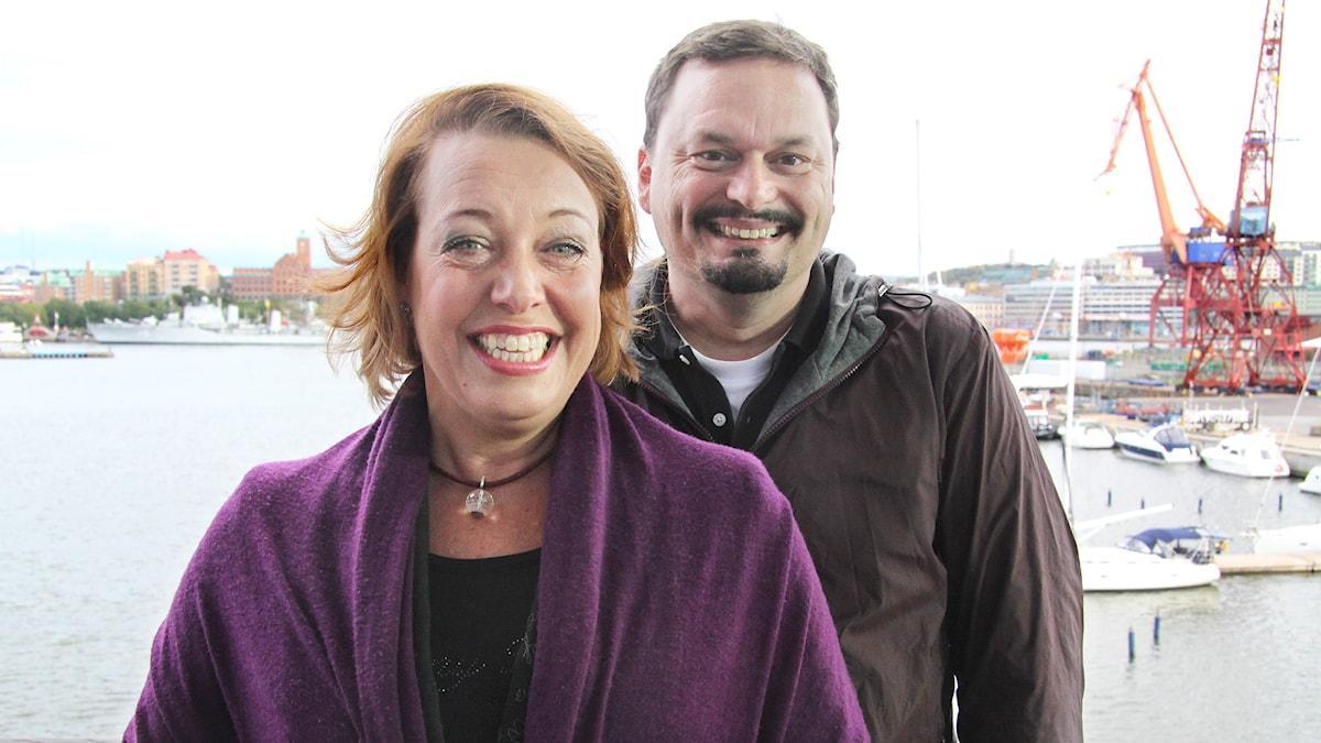 Teaterprogrammet  Nina Stemme och Roger Wilson  Foto: Mina Benaissa/Sveriges Radio