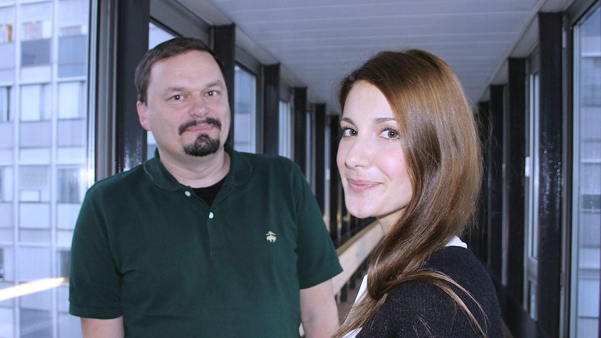 Teaterprogrammet  Roger Wilson och Nina Zanjani Foto: Anna-Karin Ivarsson/Sveriges Radio