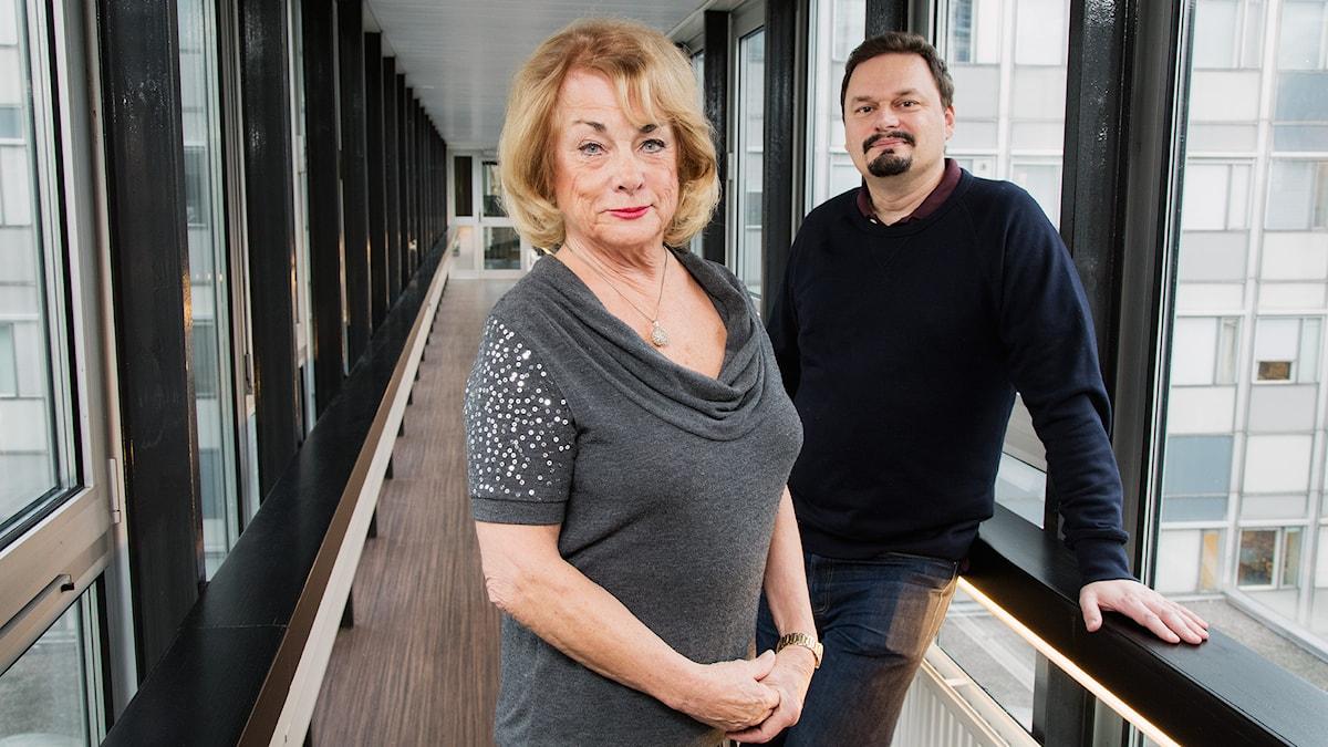 Teaterprogrammet. Berit Gullberg och Roger Wilson. P1 Sveriges Radio. foto: Mattias Ahlm/Sveriges Radio