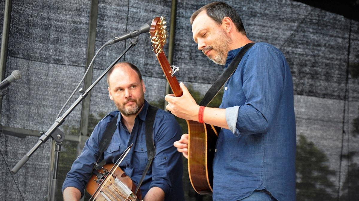 Radarparet Esbjörn Hazelius och Johan Hedin. Foto: Mats Einarsson/Sveriges Radio