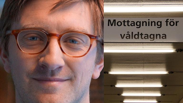 Etnologen Jens Lindberg vid Umeå universitet forskar om våldtagna män.  Södersjukhusets akutmottagning för våldtagna.