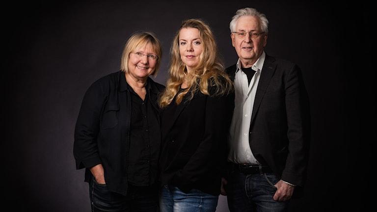 EU-podden. Susanne Palme, Ci Holmgren och Herman Meltzer. P1 Sveriges Radio.