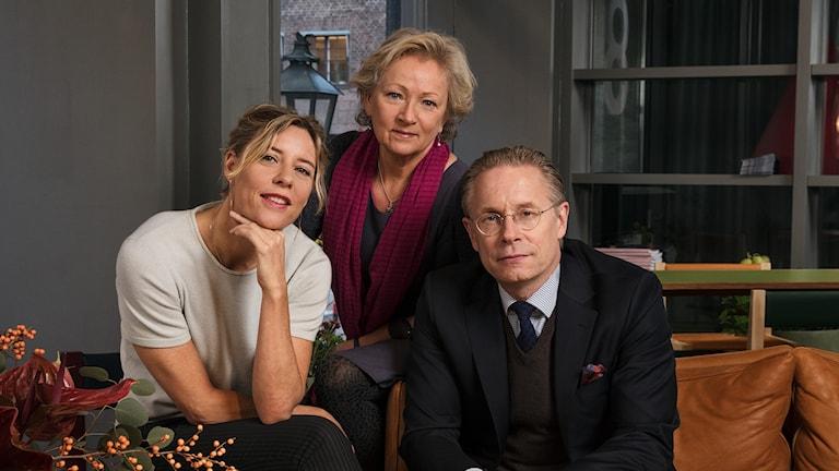 P1-morgon Katherine Zimmerman, Anna Hernek och Daniel Alling P1 Sveriges Radio