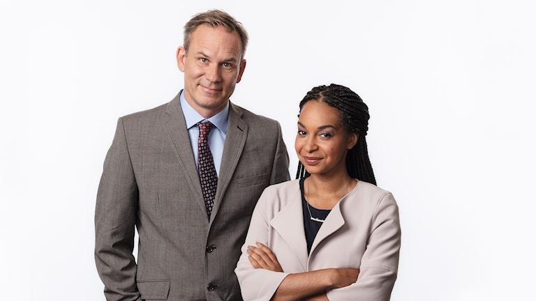 Richard Myrenberg och Palmira Koukkari Mbenga, Sveriges Radios korrespondent Ungt perspektiv.  Ekot Sveriges Radio