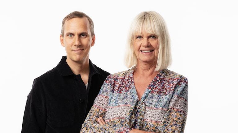 Korrarna i Kulturhuset 2018 Sveriges Radios radiokorrespondenterna  i Kulturhuset  i Stockholm Johan Bergendorff och Margita Boström