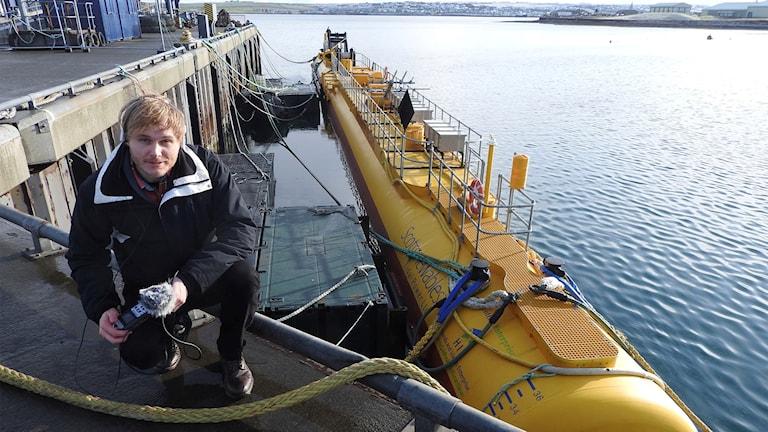 Klotets reporter Joel Eidering har varit i Skottland och tagit reda på hur tidvattenturbinen R2000 fungerar.