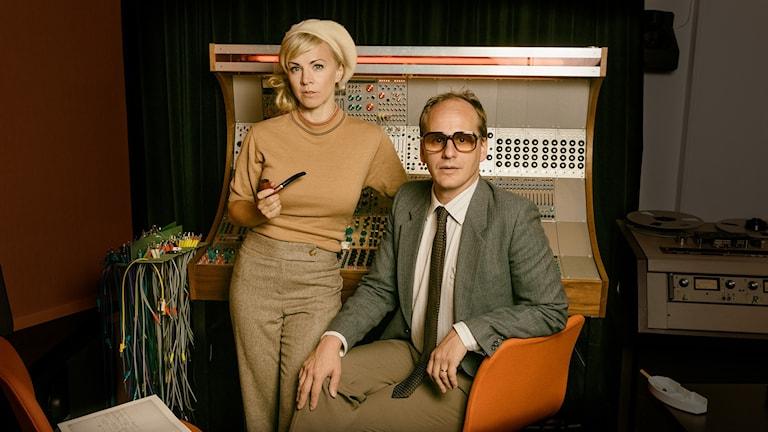 Esmeralda Moberg och Mattias Lundberg. Foto: Mattias Ahlm/Sveriges Radio