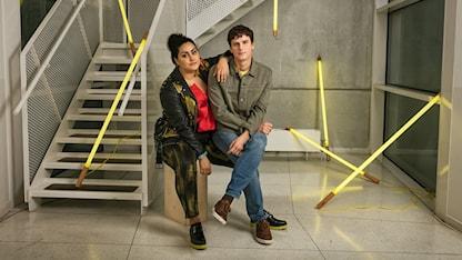 P3 Guld 2018 Tina Mehrafzoon och Adam Pålsson, programledare P3 Sveriges Radio