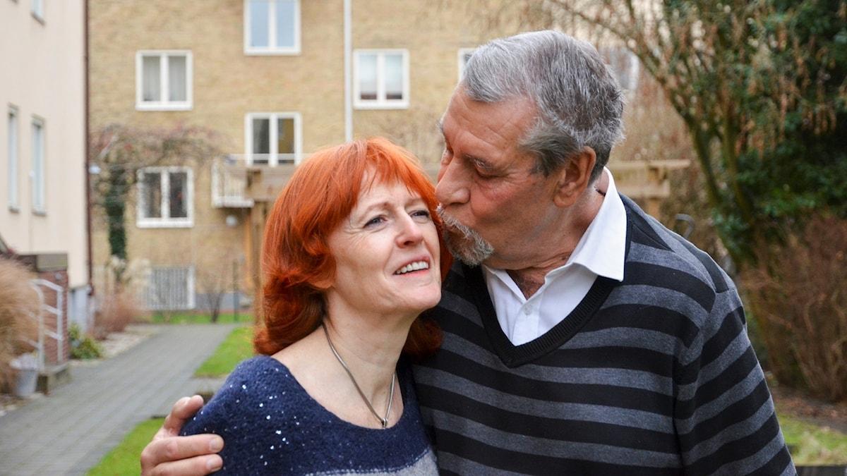 Pyramiden: Kärleken Anne Sofie Roald och Jan Mårtenson har funnit kärleken på senare år. P1 Sveriges Radio