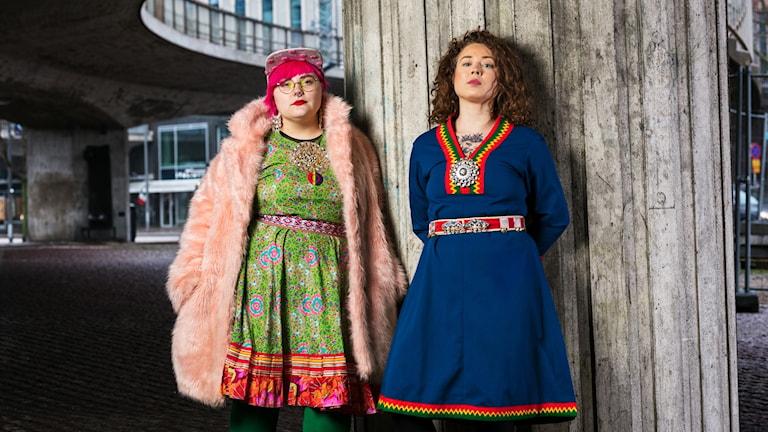 Sameradiopodden Merethe Kuhmunen och Monica Andersson  Sameradion Sveriges Radio
