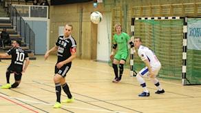 Futsalmatch mellan IFK Uddevalla och Skoftebyn.