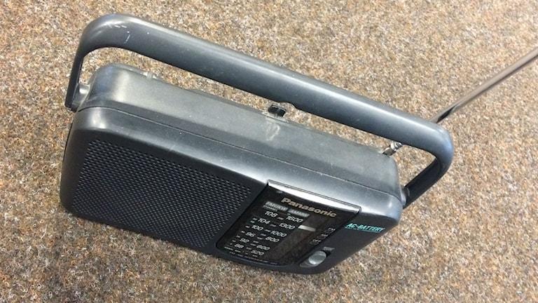 Bild på radioapparat