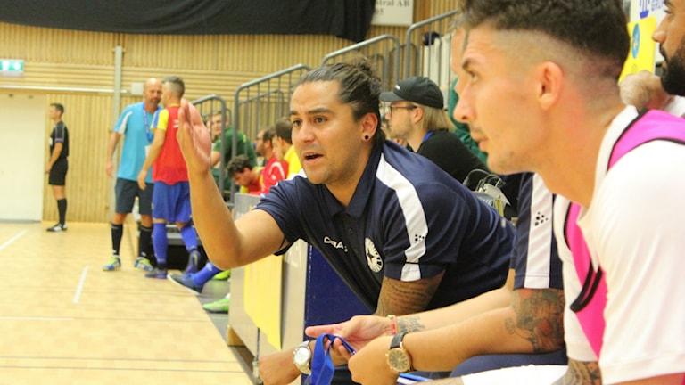 Angelo Vega, tränare för IFK Uddevalla futsal.