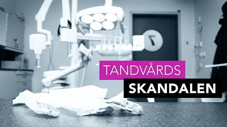 En smutsig handske i närbild på ett behandlingsrum. Foto: Liv Widell/Sveriges Radio