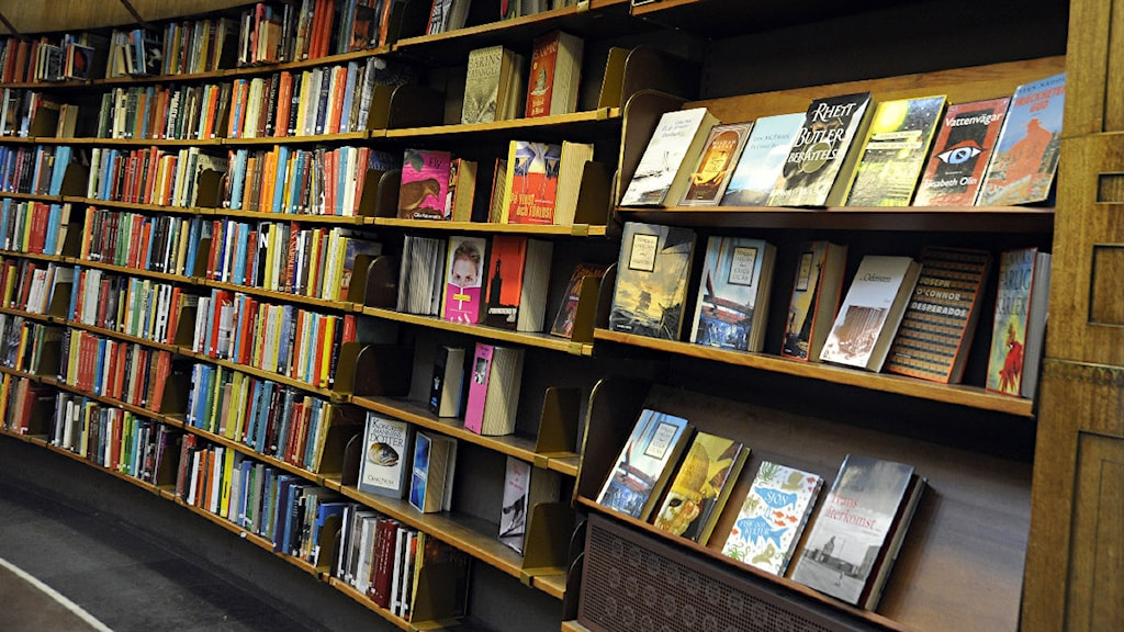 Böcker i bokhylla. Foto: Hasse Holmberg/Scanpix