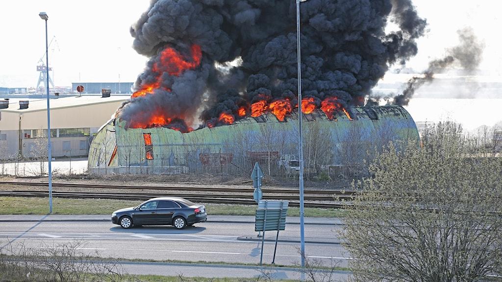 Brand i byggnad i Uddevalla