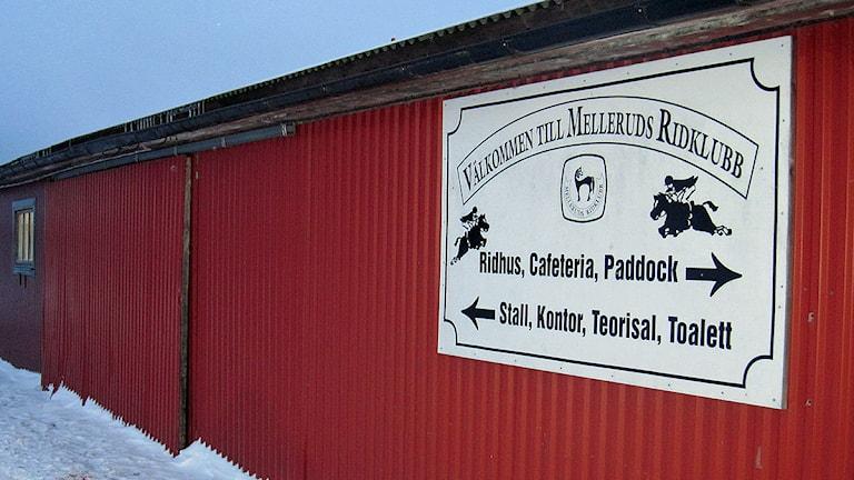 Mellerud ridklubb. Foto: Kristina Stulken/SR Väst.