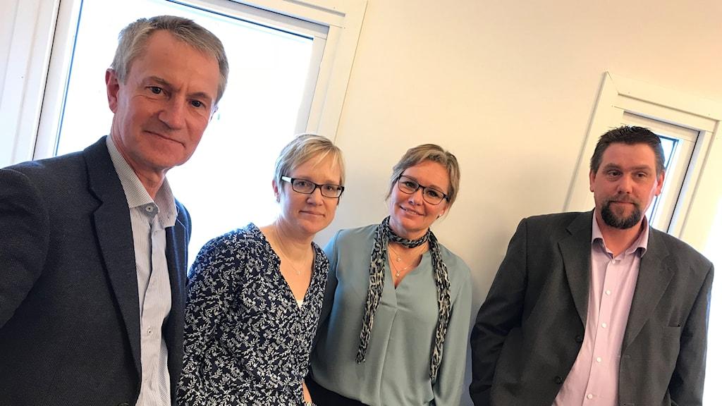 Ronald Rombrant (LP), Julia Lundwall, Ann-Charlotte Mellgren Sernemo och Christoffer Zakariasson (SD).
