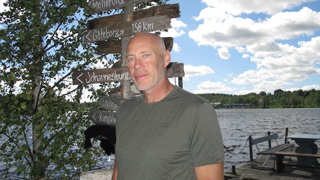 Vandraren och journalisten Jonas Hållén