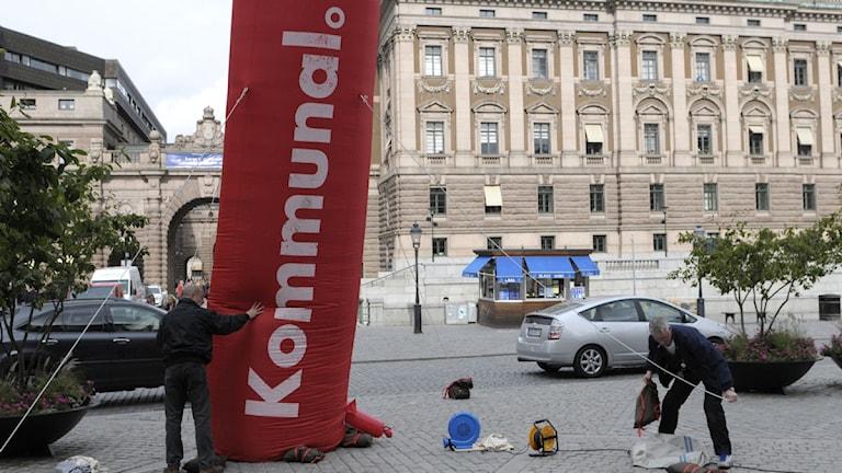 Reklam för fackförbundet Kommunal. Foto: Janerik Henriksson/Scanpix