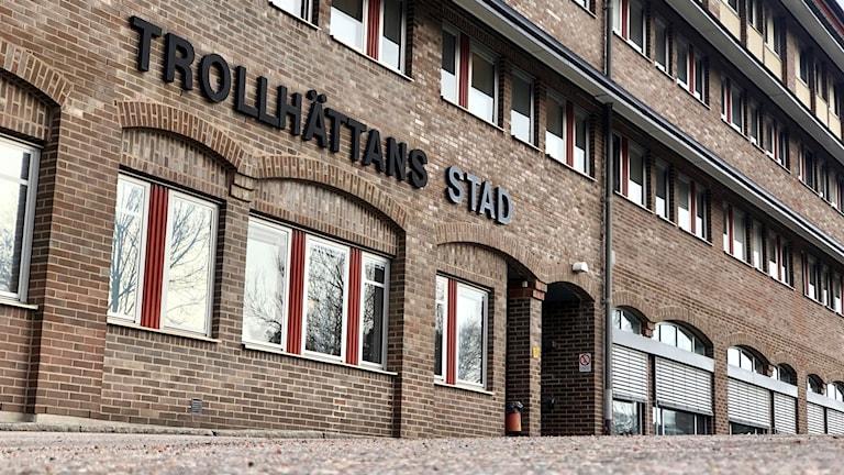 Trollhättan stad, Trollhättan kommun, Trollhättan, Trollhättan skylt
