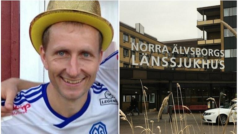 Markus Svensson, ordförande i Dalslands Fotbollförbund poserar efter en match med Melleruds IF .
