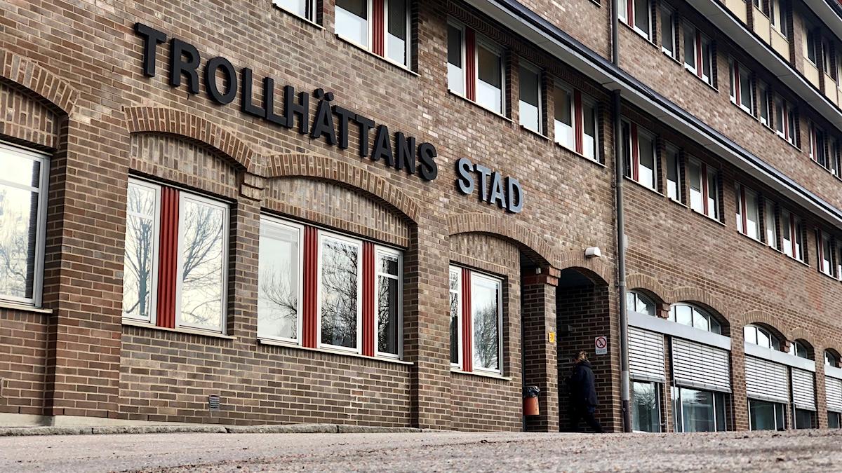 Trollhättan stad, Trollhättan kommun, Trollhättan, Trollhättan skylt.